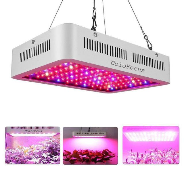 1200w Led Grow Light Lamp For Indoor Plants Hydro Seed Growing System Colofocus