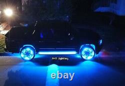 15.5Chasing Flowing LED Wheel Rings Lights +Underglow Strips Kit works together