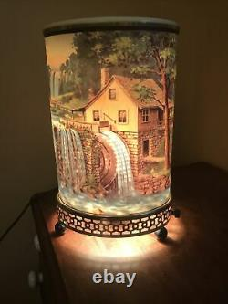 1956 Econolite Old Mill Motion Lamp Light Works! Waterfall House Clean