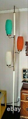 1960s RETRO TENSION Pole 3 Lt 3Wy Ceiling Lamp 8 Ft Works Excellent