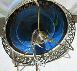 1968 L. A. Goodman Round Waterfall Motion Lamp Light Works See Video