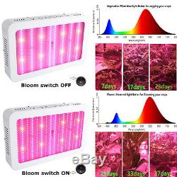 2000W Led Grow Light Full Spectrum Lamp with Bloom Boost Switch for Indoor Plant