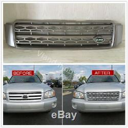 2001-2007 For Toyota Highlander Grille Grey Style Land Rover Color Planted