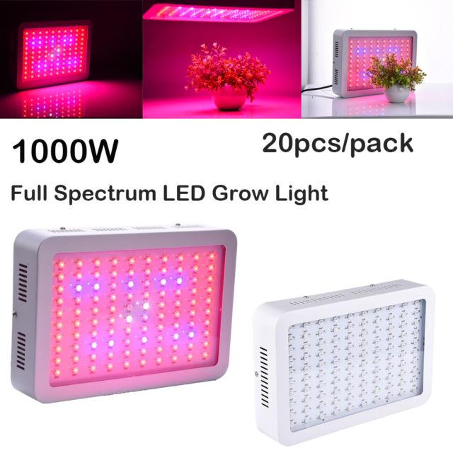 20x 1000w Full Spectrum Led Grow Light Panel Lamp For Hydroponic Plant Growing