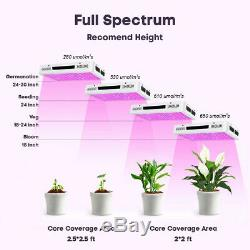 2PCS 1200W Led Grow Light Full Spectrum Lamp Plant Hydroponics Flower Veg Bloom