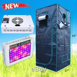300W LED Grow Light Lamp+27''×27''×63'' Indoor Grow Tent for Plants Greenhouse