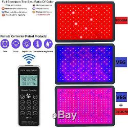 6000With8000W Remote Control LED Grow Lights Lamp Full Spectrum Plants Veg Flower