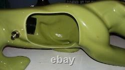 Amazing Antique Lime Green Panther Mid Century TV Lamp, /Light Works WoW