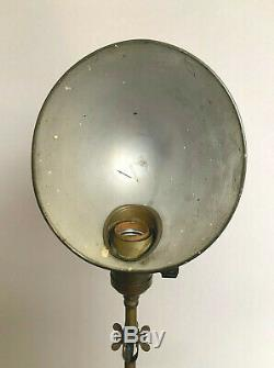 Antique FARIES Bronze Articulated Desk Table Lamp Light Pre-1910 Works GREAT