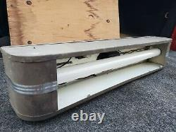 Antique Industrial Fluorescent Linear Light Fixture Master Lamp Co. PA (WORKS)