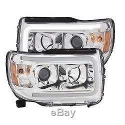 Anzo 111382 Chrome withAmber Projector Plant Style Headlights for GMC Canyon
