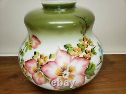 Beautiful Large Vintage Hand Painted Floral Swag Lamp/Light Works