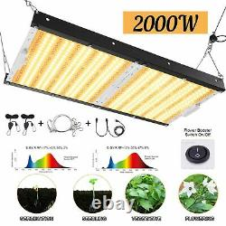 Carambola 2000W LED Grow Light Dimmable Full Spectrum Grow Lamp for Indoor Plant