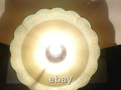 Coca Cola Coke Tiffany Style Plastic Hanging Lamp Light Vintage Works Sold As Is