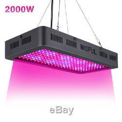 Double Chips 2000W Full Spectrum LED Grow Light Lamp For Plant Flowering Growing
