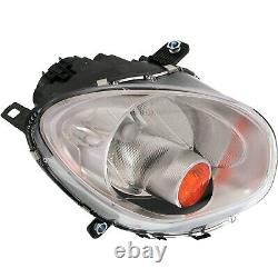 Halogen Headlight For 2011-16 Mini Cooper Countryman Right with Yellow Signal/Bulb