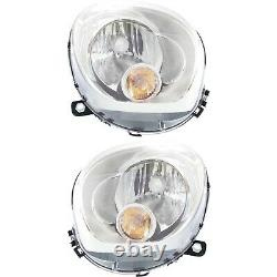 Headlight Set For 2011-2016 Mini Cooper Countryman Left & Right with bulb