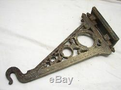 Heavy Cast Iron Bird Cage Plant Hook Hanging Lamp Light Victorian East Lake A