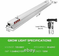 IPower LED Grow Lights 150W Full Spectrum Plant Lamp Dimmable for Greenhouse