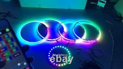 JHB 15.5Bluetooth CHASING LED Wheel Light +12.5Spare Tire Light works together