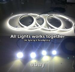 JHB 15.5 DOUBLE ROW WHITE LED Wheel Lights works with 4PCS WHITE Rock Lights