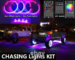 JHB 15.5 Pro Chasing LED Wheel Rings Lights works with 4PCS Chasing Rock Lights