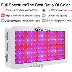 KING 1200W LED Grow Light Full Spectrum Indoor Lamp for medical plants growing