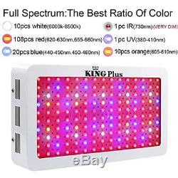 King Plus Growing Lamps 1500W Double Chips LED Light Full Spectrum For And Plant