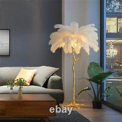 LED Floor Lamp Home Decorative Living Room Ostrich Feather Ornament Indoor Light