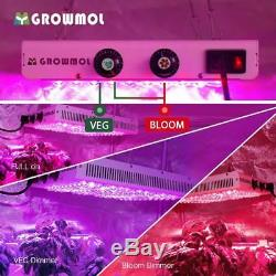 LED Grow Light 600W Dimmable 12 Bands Lamp Full Spectrum for Indoor Plants