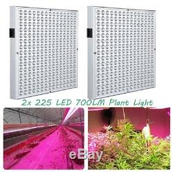 LOT 225 LED Grow Light Lamp With Full Spectrum For Indoor Hydroponic Plant SE