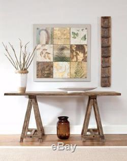 Light Brown Wooden Console Table Hall Way Entry Living Room Lamp Plant Stand