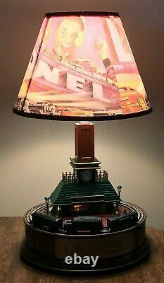 Lionel Animated Lionelville Train Station Lamp Motion/Sound/Light WORKS
