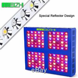 MEIZHI Reflector 600W LED Grow Light Full Spectrum 12 band For Indoor Plant Lamp