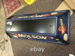 MOLSON Beer Pool Table Lamp Fixture Man Cave Bar Light Works, has pull switch