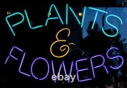 New Plants & Flowers Neon Sign 20x16 Light Lamp Wall Store Collection ST432