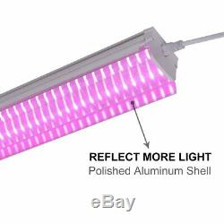 Plant Grow Light Full Spectrum LED with Lamp Fixture for Indoor Plants 2ft 4ft 32W