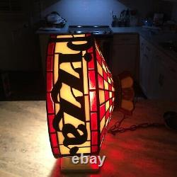 RARE Vintage Pizza Hut Tiffany Style Lamp / Light Fixture Tested Works
