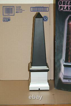 Rare Spencers Gifts Plasma Obelisk Light Lamp With Box Works 21 Tall