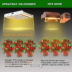 UPDAYDAY UD-2500 LED Grow Light Full Spectrum Plant Grow Lamp Dimmable Timer for