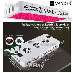 VANDER 3000W LED Grow Light Dual Spectrum Hydroponic Plant Lamp with Bloom Switch