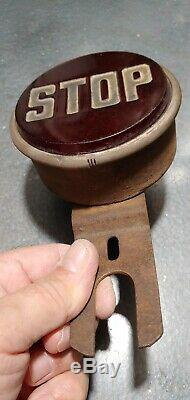 VINTAGE OLD 1920s 1930s STOP LIGHT TRUCK SCTA RAT ROD FORD CHEVY HARLEY WORKS