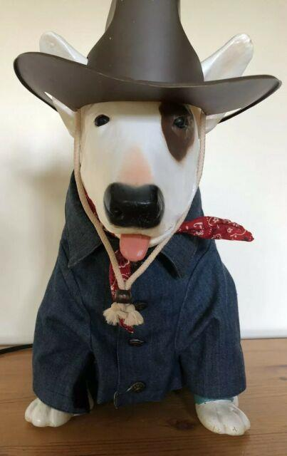 Vintage Rare 1988 Spuds Mackenzie Light Up Bar Lamp -with Cowboy Outfit- Works