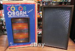 Vintage 1970's Radio Shack DISCO Color ORGAN MOTION LIGHT Lamp WORKS With BOX