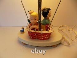 Vintage 1970s Dolly Toy Co. Hot Air Balloon Lamp Night Light Works