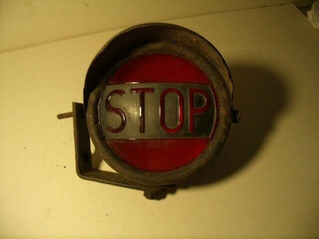 Vintage 40's 50's Glass Lens Red Stop Light Truck, Car, Tractor Works
