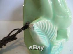 Vintage Double Panthers Fighting TV Light Lamp Mint Green Hard To Find WORKS