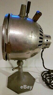 Vintage Industrial Carbon Arc Health Lamp Stage Theater Light Spotlight Works