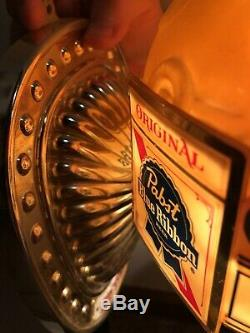 Vintage Pabst Blue Ribbon Beer Electric Wall Lighted Sign Lamp Rare Works