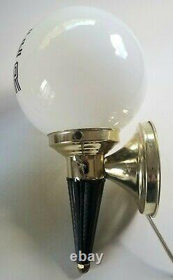 Vintage Stage Door Electric Wall Lamp Light Glass Globe Theater Decorative WORKS